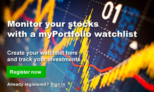 Monitor your stocks with the myPortfolio watchlist